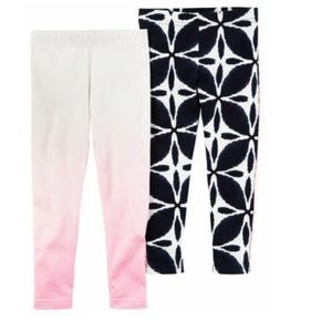 Carter's Bundle of 2 Pairs Girl's Leggings size 5